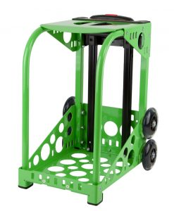 zuca sport frame green with flashing wheels