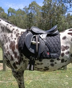 black sparkly saddle pad