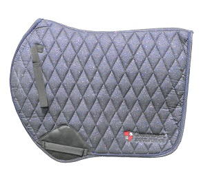navy saddle pad