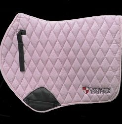 Pink saddle pad