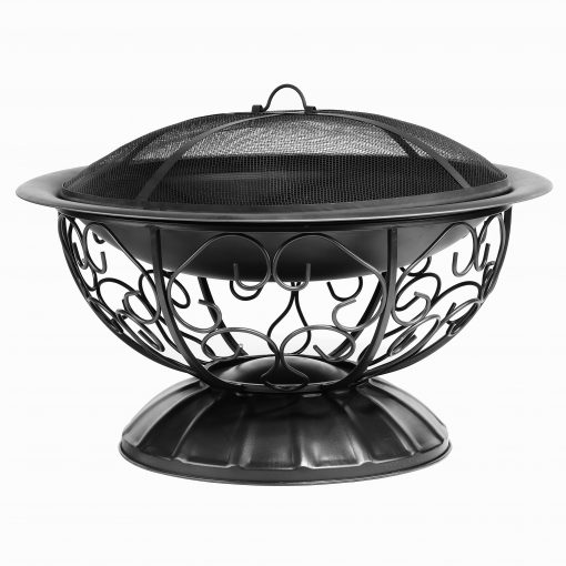 Decorative fire pit black