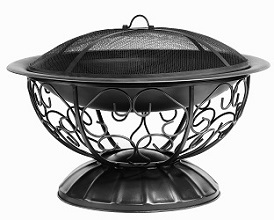 Decorative black fire pit