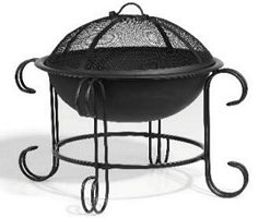 curved black firepit