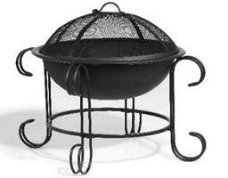 curved black firepit