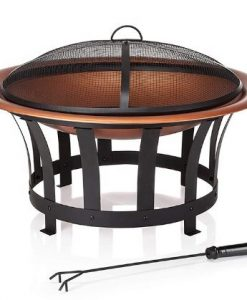 copper look fire pit