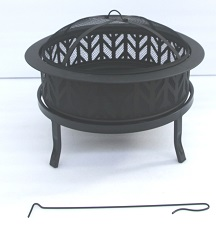 Round cut out fire pit
